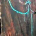 La nuit danse, acrylique sur toile-détail